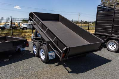 8 X 5 SINGLE AXLE TIPPER (LAWN MOWER / GOLF CART)