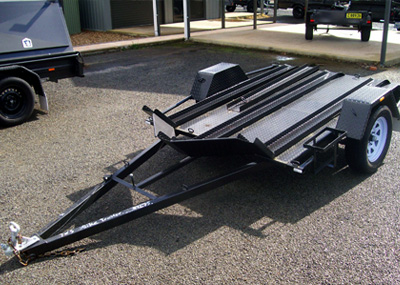 7 X 5 SINGLE AXLE MOTOR BIKE TRAILER